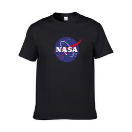 tshirt de rihanna 3d Desconto 2020 branco NASA Space tshirt T-shirt retro de Harajuku homens do algodão Camisa da NASA Gráficos t camisa preta brancas homens Casual tee
