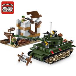 2019 militärkriegsspielzeug 380 Stücke Military War Tiger Tank Gegenangriff Übungen Soldaten Bausteine Sets LegoINGLY Bricks Spielzeug für Kinder rabatt militärkriegsspielzeug