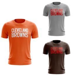 73f7b84e2 8 Fotos Compra On-line Personalizar camisa marrom-2018 New Custom Men  Cleveland Browns Ash Personalizado