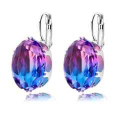 Canada Dernières Multicolor Tourmaline Classique De Mode Ovale Clip Boucles D'oreilles Pour Les Femmes De Noce Bijoux supplier wedding earrings Offre