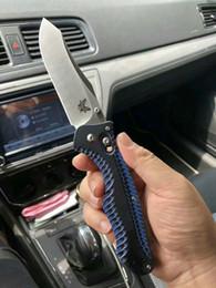 "Tops negros lisos online-¡Parte superior! BM BENCHMADE 810BK Cuchillo plegable Osegoe Contego de 3.98 ""GB-D2 Black Plain Blade G10 Handles OEM BM42 3310BK Cuchillos de supervivencia"