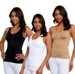 cb2a492875 slimming camisole shapewear Rebajas 3 colores mujeres Tank Top Cami Body  Shaper Almohadillas removibles Genie Bra