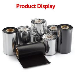 Transferencia térmica cinta de resina de anchura 50 mm -110mm longitud 300m 1 rodillo para la PET código de barras etiqueta de impresora desde fabricantes