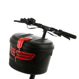 Fahrradtaschen körbe online-Elektrische Fahrradkorb Mountainbike Kunststoff Fahrradkorb Hängen Lenker Vorne Satteltasche # 79547