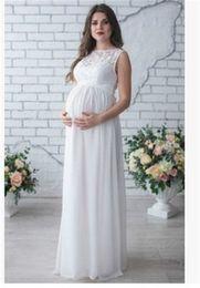 Jupes d'été pour femmes enceintes en Ligne-Robe de printemps et d'été 2019 pour femmes enceintes, robe de dentelle autour du cou pour femmes enceintes, jupe pour femmes enceintes