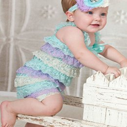 Baby Toddler Girls Strapless Lace Petti Ruffle Rompers Great Photo Props S M L