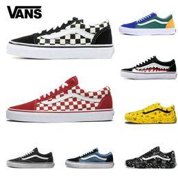 2020 Vans Old Skool Männer Frauen sk8 hallo Freizeitschuhe Rock Flamme Yacht Club Sharktooth Peanuts Skateboard VANS Mens Canvas Skate Sneakers