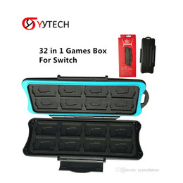 2019 memória de fábrica SYYTECH Preço de Fábrica 32 em 1 Titular protetor de Armazenamento De Caixa De Cartão de Memória À Prova D 'Água Para Nintendo Interruptor memória de fábrica barato