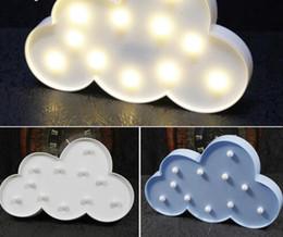 Luz da noite da nuvem on-line-1 Pc LED Nuvem Noite Lâmpadas 3D Marquee Night Light Battery Casa Decoração de Natal Partido DIY Decoraciones