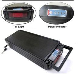 luce di coda elettrica della bici Sconti SPEDIZIONE GRATUITA Batteria al litio ad alta capacità Batteria 48V 20Ah Batteria al litio 1000W / Batteria a cremagliera posteriore con fanale posteriore + Caricabatterie