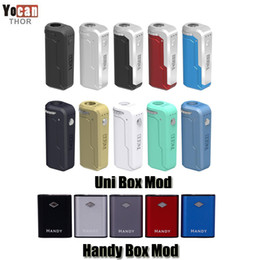 Autentico Yocan Pratico 500 mAh Box 650 mAh mod Preriscaldamento VV Batteria magnetica a tensione variabile 510 per cartucce a olio spessa Originale da