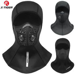 Tapas que cubren toda la cara online-X-tigre de la máscara de la máscara de invierno polar térmica de ciclo anti-polvo cubierta de ciclo del casquillo a prueba de viento de la cara llena del pasamontañas de esquí patinaje sombrero