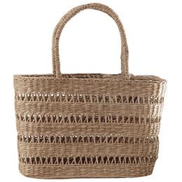 Feriado bolsas on-line-Saco De Palha tecido Mulheres Bolsas Artesanais Senhoras Praia Piquenique Cesta Saco de Viagem Tote Oco Out Holiday Bohemian Rattan