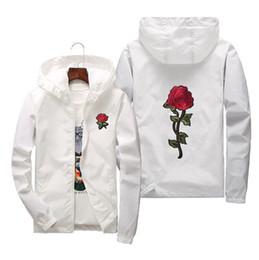 jaquetas bordadas das mulheres Desconto Mens Womens bordado Rose Jacket Parent-criança Casacos Jaqueta Blusão Ao Ar Livre Windbreak e Calor Tamanho Asiático S-6XL
