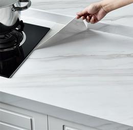 Marmorkleber online-Marble Film Self Adhesive wasserdichte Tapete für Badezimmer Küchenschrank Platten Kontakt Papier PVC-Wand-Aufkleber