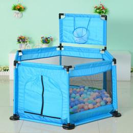 Jugar pelotas online-Baby Play Pen Fence Kids Play Mat Barrera de seguridad Tienda de juegos para niños Toddler Ocean Ball Play Mat Fence Barrera sólida 7 colores YFA441