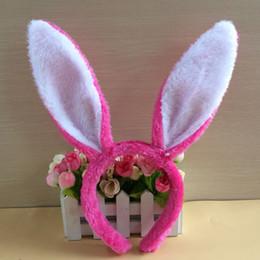 Cosplay pasquale online-Easter bunny peluche copricapo Plush Bunny Ears Fascia orecchi di coniglio carino Hairbands per la festa di Pasqua Decor Decor Copricapo Costume Cosplay