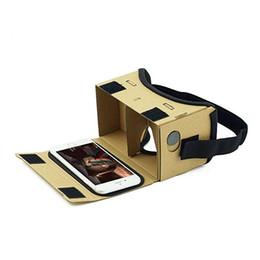 бесплатный vr-картон Скидка DIY Ultra Clear Google Cardboard VR BOX 2.0 виртуальная реальность 3D очки для iPhone смартфон компьютер Gafas Xiaomi Mi VR гарнитура
