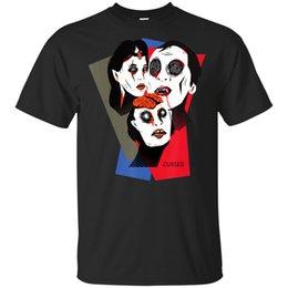 2019 camicia nera vampiro Famiglia maledetta divertente anni '80 arte del teatro Witch Vampire Zombie T-Shirt Black Men-W ... sconti camicia nera vampiro