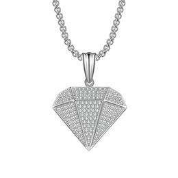 fascino di triangolo di rame Sconti 2019 Trend Personalità Rame Zircone Argento Colore Hip Hop Triangolo del vento Collana di gioielli di danza di strada di alta qualità