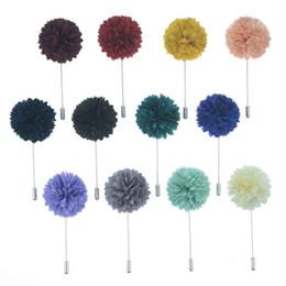 Männer kleiden porzellan online-Männer Blume Revers Pin Mens Revers Blume Stick Brosche Vintage Hochzeit Anzug Kleid Dekoration Corsage Bouquet 16 Farben