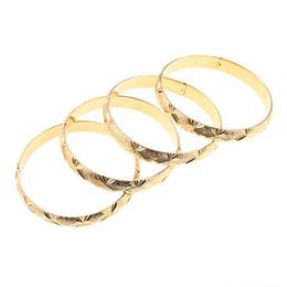 2019 afrikanische goldarmbänder großhandel 4 STÜCKE Äthiopische Braut Armreif für Frauen Gold Farbe Großhandel Dubai Armband Afrikanischen Arabischen Schmuck Phantasie Geschenk