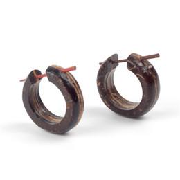 lustres d'ananas Promotion Vintage Natural Wood Drop Dangle Earring Femmes Jewerly Bohemia Main Noir Couleur Harajuku Boucles D'oreilles Puncture Accessoires Cadeaux