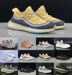breathable denim lace Coupons - 2019 Beluga 2.0 Zebra Cream Kanye v2 SPLY BOOSTV2 West Blue Tint Zebra Women Men Luxury Designer Shoes Sneaker Casual shoes Trainers 36-46