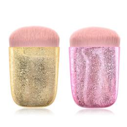 Glitter erröten make up online-Mermaid Glitzernde Glänzendes Verfassungs-Bürsten Professionelle Blush Powder Foundation Make-Up-Bürsten-Kosmetik-Werkzeug 2styles RRA1518