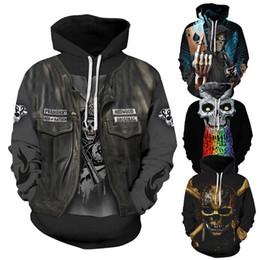 3d графические куртки Скидка череп печатных черный балахон графический толстовки для мужчин s одежда с длинным рукавом 3d хип-хоп толстовка мужские дизайнерские куртки рок уличная топы