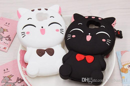 3d soft case cat Coupons - Sales 3D Cute Cartoon Fortune Smiling Cat Phone Case for Samsung For iphone xs max Soft Silicone Cover Coque Fundas