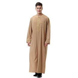 modelos abaya Desconto 2020 Homens Roupas Étnicas Muçulmano Árabe Oriente Médio Trajes Islâmicos Hui Vestidos de Crescimento dos homens Vestidos de Jejum dos homens Índia Roupas Islâmicas