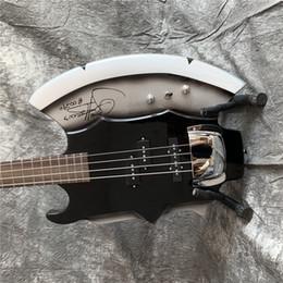 guitarras zakk wylde Rebajas Envío libre AX Bajo eléctrico Heavy Metal Chopper GENE SIMMONS Negro 4 cuerdas de la guitarra eléctrica Bass