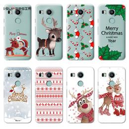 cubiertas del nexo Rebajas Merry Christmas Tree para LG G4 G5 G6 Q6 K4 K5 K8 K10 2017 V20 V30 X Power Nexus 5X Funda de silicona Ultra Suave TPU Capa Bolsos Funda