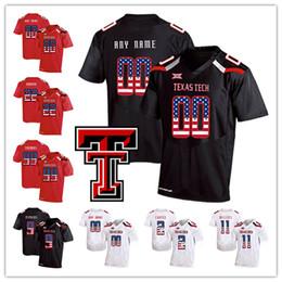 2020 bandera negra de estados unidos NCAA encargo de Texas Tech Red Raider cualquier nombre Número Rojo Blanco Negro 5 Patrick Mahomes II 11 Jakeem subvención EE.UU. jersey del fútbol de bandera de la manera bandera negra de estados unidos baratos