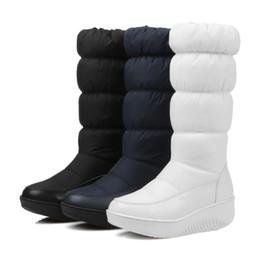 2020 botas de nieve abajo de las mujeres 2019 mujeres del invierno Botas de mitad de la pantorrilla botas de felpa caliente abajo de la plantilla femenina antideslizante impermeable de los zapatos cargadores de la nieve señoras de las muchachas mujer de la plataforma 35-44 botas de nieve abajo de las mujeres baratos