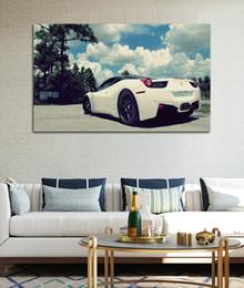 carteles deportivos enmarcados Rebajas Hermosa súper deportivo coche sala de estar decoración del hogar arte de la pared decoración de madera marco tela carteles KG381