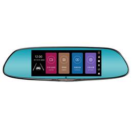 Touch screen da 7 pollici per auto Bluetooth Registratore di guida Visione notturna HD Specchio retrovisore a doppia lente Con dvr elettronico per misurazioni di velocità del cane cheap touch screen electronics da elettronica touch screen fornitori