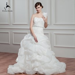 Eren Jossie - Robes de mariée de designer avec une épaule et une fermeture éclair dans le dos - Jupe pick-up Ups 2019 ? partir de fabricateur