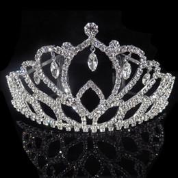 coroa vermelha para a noiva Desconto Grande tiaras de casamento para noivas de ouro headdresses headdresses crianças menina tiara crown headbands flor vermelha diadema acessórios para o cabelo
