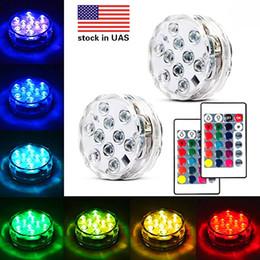 Base de luz LED sumergible para luces de LED sumergible, batería RGBW, multicolores, con control remoto para eventos de bodas Centros de mesa Floreros Florales desde fabricantes