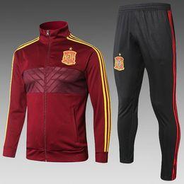 se adequa ao espanhol Desconto 2019 Espanha camisas de futebol kit terno treinamento 18 19 TORRES SILVA ISCO SERGIO RAMOS A.INIESTA espanhola de futebol uniforme futebol jerseys CHANDAL