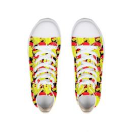 Симпатичные расписные туфли онлайн-Забавный мультяшный картина плоские туфли женские весна осень плоские желтые симпатичные дышащие кроссовки из плотной ткани подросток обувь студентов