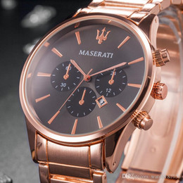 Frauen große uhr online-Beiläufige Quarzuhr Menes Frauen Oberseite maserati Edelstahl-Uhren Uhren Hombre Horloge Orologio Uomo Montre Homme SPROT Big Bang