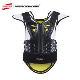 Armadura verde online-HEROBIKER Protección de motocicleta Chaleco antibalas para motocicleta Armadura de motocross antiarrugas Chaquetas unisex negro verde