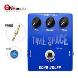 Canada Vente en gros Caline CP17 Time Space Echo Delay Pédale d'effet numérique 600ms Maxi True Bypass Livraison gratuite Connecteur gratuit cheap reverb effects pedals Offre