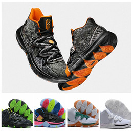 quality design 1eaaa cebbc 2019 Kyrie Taco Black Magic Sky star Mens Basketball Shoes Chaussures 5s 5  Men Rainbow Black White Sports Sneakers Size US 7-12