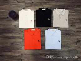 2019 diseño de bordado de polo 19ss más nuevo 5 colores lujoso diseño de marca bordado bbr logo POLO Camisa Hombres Mujeres Moda casual Streetwear Sudaderas camisas al aire libre rebajas diseño de bordado de polo