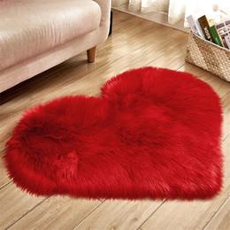 2019 tapis de mousse Gros amour coeur polypropylène chaleur-set tissu tapis en tissu en peluche couverture canapé coussin salon salon décoration