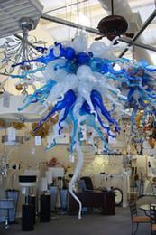 2019 24 zoll rundes glas Moderne Kunst Glas Pendelleuchten für Wohnzimmer Kunst Dekoration Chihuly mundgeblasenem Murano Glas Kronleuchter